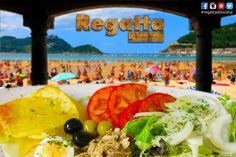 Antes o después de la playa para comer o cenar... #regatta #Donostia #SanSebastian es tu restaurante con menú de mediodía y menú de cena y carta entre horas para que puedas comer una ensalada fresquita cuando quieras en c/Hondarribia 20 bajo junto al Buen Pastor.