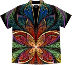 Rainbow ESplits Butterfly original fractal design by Wolfepaw (Peggi Wolfe).