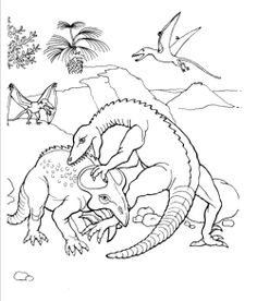 protoceraptos dinosaur coloring page