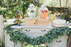 This Rustic Italian Olive Branch Winery Wedding from onelove photography and The Little Branch features peach and pink garden roses and proteas. Dessert Bar Wedding, Wedding Desserts, Wedding Decorations, Dessert Bars, Wedding 2015, Wedding Images, Wedding Parties, Prom Themes, Rustic Italian