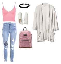 """""""Untitled #428"""" by wrigannabelle on Polyvore featuring Miss Selfridge, Topshop, Gap and JanSport"""