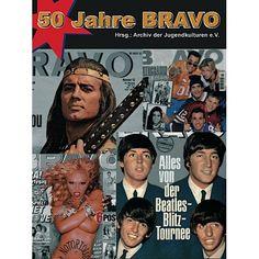 """50 Jahre BRAVO. """"50 Jahre BRAVO"""" ist eine außerordentliche Dokumentation bundesrepublikanischer Zeitgeschichte. Nicht daran interessiert, selbst Trends zu setzen, sondern diese genau zu erforschen und im Heft zu bedienen, stellt BRAVO ein einzigartiges Spiegelbild von 50 Jahren Jugend(kultur) dar."""