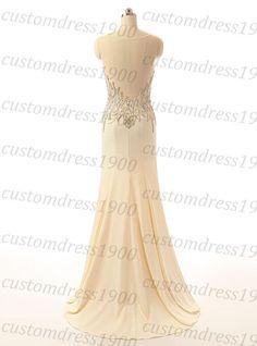 Custom made mermaid evening dresscap sleeve by customdress1900