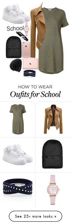 """""""School days"""" by smokeylovebae on Polyvore featuring 321, NIKE, Incase, Rains, Coal, Emporio Armani and McQ by Alexander McQueen"""