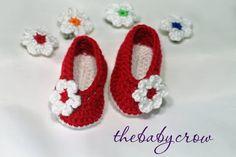 Crochet Baby Booties in Bright Red!