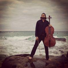 Cello man.  My man.  #maroubrabeach #cello