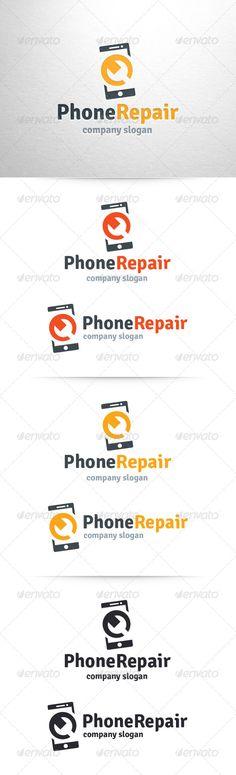 Phone Repair  - Logo Design Template Vector #logotype Download it here: http://graphicriver.net/item/phone-repair-logo-template/6462834?s_rank=1406?ref=nexion