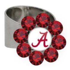 Alabama Crimson Tide Adjustable Daizie Ring at End Zone Apparel