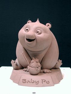 baby pho sculpt from kung fu panda Kung Fu Panda, Toy Art, Character Design Animation, 3d Character, Cinema 4d, Cute Clay, Cartoon Design, 3d Cartoon, 3d Models