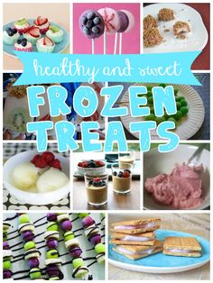 ten sweet and healthy frozen treats #recipe #healthy #summer @Remodelaholic .com .com