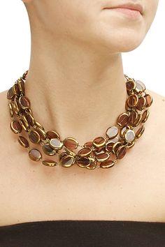Rust colour glass stone necklace by Bungalow 8. Shop now: www.perniaspopups.... #necklace #designer #bungalow8 #classy #accessory #shopnow #perniaspopupshop #happyshopping