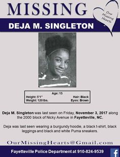 Find Missing Deja M Singleton!