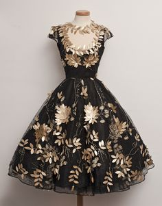 Gorgeous black vintage dress