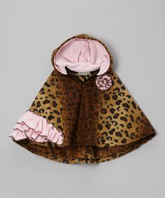 Loving this Tan Leopard Sofie Poncho - Infant, Toddler & Girls on #zulily! #zulilyfinds