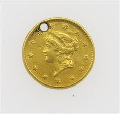 1853 Liberty 1 Dollar Gold US Coin Featured in our upcoming auction on June 14!