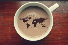 Картинка с тегом «coffee, world, and travel»