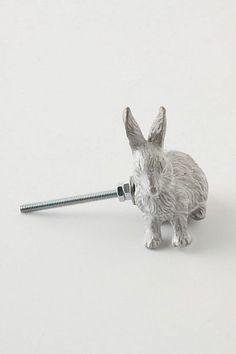 anthro, forestry guard knob, rabbit
