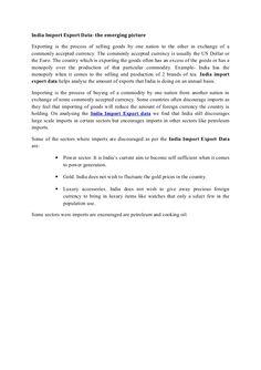 India Import Export Data by Devendra Pandey via slideshare