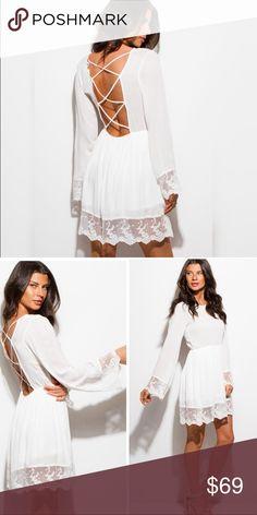 🎉Sale🎉 Lace Trimmed Dress 🎉Sale 🎉 Lace Trimmed Dress Threadzwear Dresses Mini