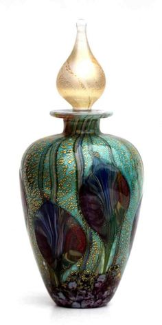 Jonathan Harris Perfume Bottle with Gold Stopper