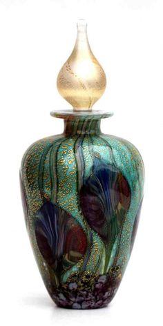 Cosmos Leaf perfume bottle.   Beautiful. Re-pinned publicly by www.DianesOils.com  :)