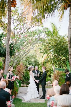 Lawn ceremony with the serene natural pool in the back ground at The Sundy House. #SundyHouse