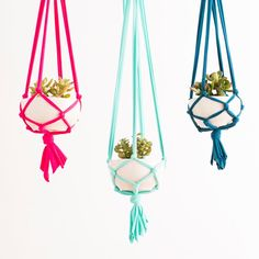 DIY your own Macrame Hanging Planter with this kit.