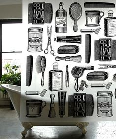 Barbershop Shower Curtain #zulily