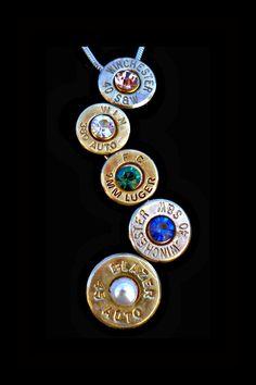 Mothers Pendant, Bullet Jewelry, Bullet Charm, Bullet Pendant, Birthstone Jewelry, $39.95, via Etsy.  LOVEEEEEEE