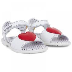 <3 Applique White Sandals | Valentine's Day | AlexandAlexa