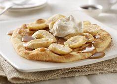 Bananas Foster with Cinnamon Sugar Naan Recipe on Yummly. Yummy Snacks, Delicious Desserts, Yummy Food, Tasty, Fruit Recipes, Dessert Recipes, Easy Recipes, Dessert Ideas, Recipies