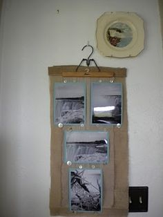 Love this repurposed way to display photos.