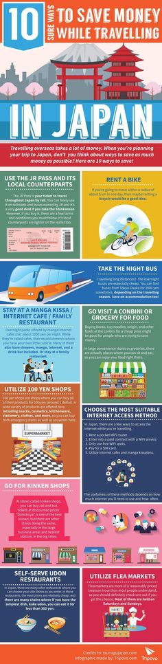 Travel and Trip infographic 10 Sure Ways to Save Money While Traveling in Japan Travel Infographic fancytemp. Infographic Description 10 Sure Ways to Destination Japon, Destination Voyage, Kyoto, Go To Japan, Visit Japan, Japan Trip, Tokyo Trip, Visit Tokyo, Japan Travel Tips