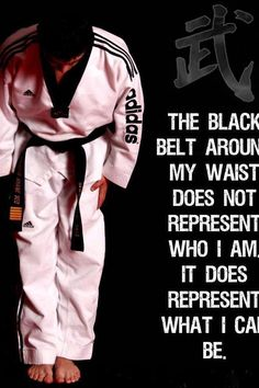 Earned my black belt in Tae Kwon Do. It took me five years, but I did it. It's one of the most important accomplishments of my life; you don't just become a black belt, you embody the lifestyle in all that you do. I try to live in such a way that I honor my belt.