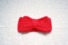 Baby Bow Peep Crochet Headband Regular Sized Bow by KaiserBaby