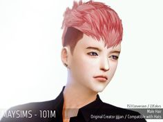 Emma's Simposium: TS4 Request #57 - Maysims Hair 101 - AU Requested!...