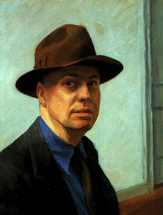 "Edward Hopper  -  self-portrait  ""In its most limited sense, modern art would seem to concern itself only with the technical innovations of the period.""       Edward Hopper"