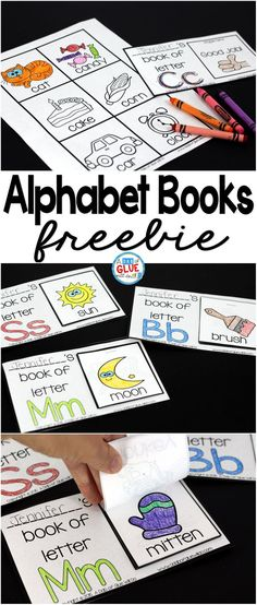 Join A Dab of Glue Will Do's Newsletter and get this full product for FREE. These Alphabet Books are great for a wide range of ages. They are perfect for introducing letters and even reviewing letters. via @dabofgluewilldo