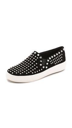 SLIP ON SNEAKS. Sam Edelman Braxton Studded Slip On Sneakers