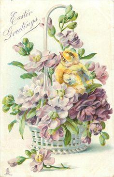 Vintage Easter card,,.