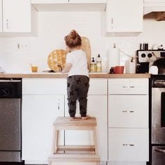 Ikea step stool for little kitchen helpers