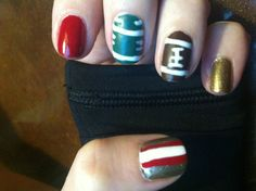 49ers Superbowl Nails!