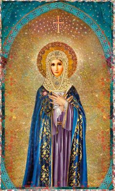 Mother Mary, Queen of Heaven and Earth Divine Mother, Blessed Mother Mary, Blessed Virgin Mary, Queen Mother, Virgin Mary Art, Religious Images, Religious Icons, Religious Art, Queen Of Heaven