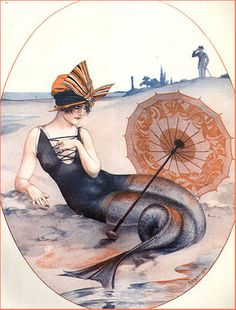 mermaid Art by Hérouard 1920's for La Vie Parisienne