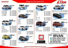 Harga 2016 Dealer Honda Bandung