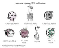 pandora spring 2015 nature charms , the red apple could also symbolise Snow White;)