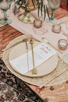 Cute boho table déco