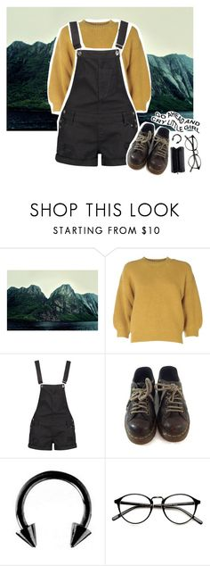 """""""Home is just a room full of my safest sounds"""" by h3li ❤ liked on Polyvore featuring 3.1 Phillip Lim, Boohoo, Dr. Martens, Urbiana, Monki, Spring, school, grunge and autumn"""