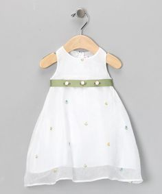 Take a look at this White Garden Tulip Dress - Infant by 3 Angels Clothing on #zulily today!