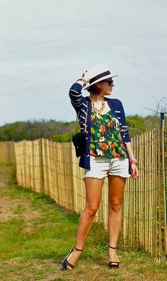 florals and stripes (and hats!)